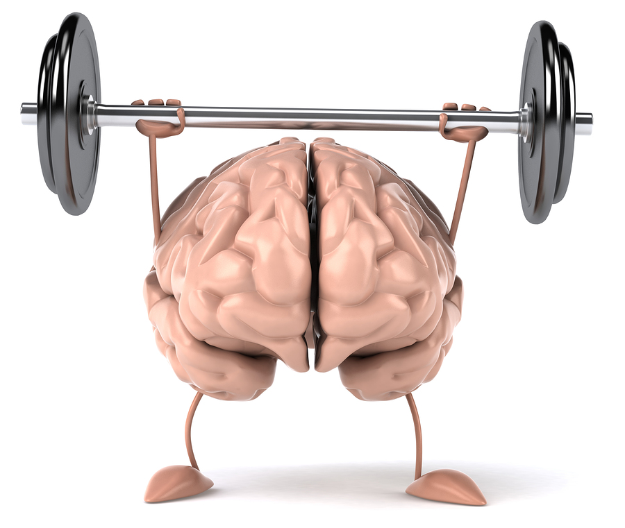Brain lifting weights like a baller